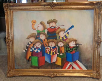 Original Joyce Royball Oil Painting with Antique Frame