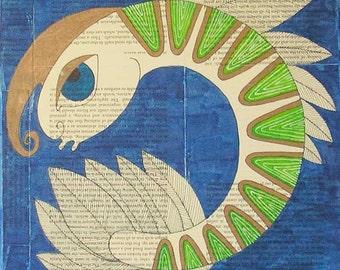 Sealife wall art, sealife art, sealife mixed media, crustacean wall art, crustacean art, crustacean mixed media, prawn wall art, prawn art