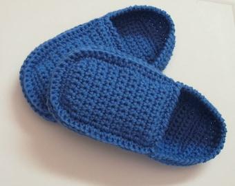 PATRON PDF No 17 Pantoufles au crochet pour hommes style loafers explications français chaussons adulte 3petitesmailles