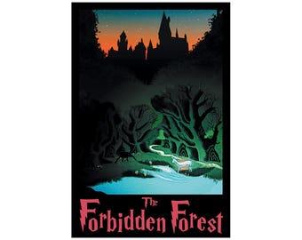 "Forbidden Forest 13"" x 19"" Travel Poster - Potterverse"