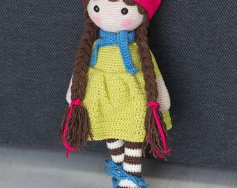 EMILY Crochet muñeca - muñeca Amigurumi - peluche muñeca - mano - Interior de la muñeca - ganchillo - hecho a mano del juguete - regalo del bebé