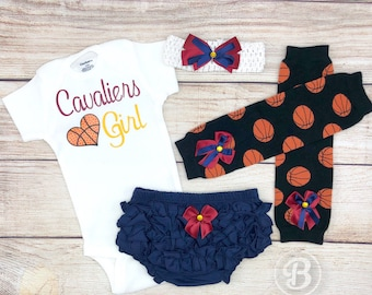 Cavaliers Girl, Baby Basketball Outfit, Cheerleader Game Day Outfit