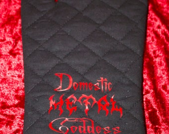 Domestic Metal Goddess pot holder glove