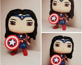 Wonder Cap pop custom