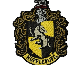 Harry Potter Hufflepuff Patch Hogwarts House Badge Licensed Embroidered Iron On