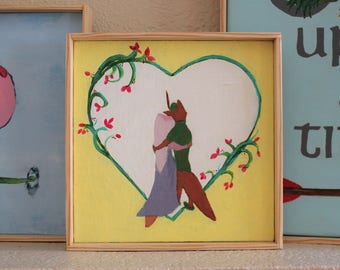 Robin Hood and Maid Marian Disney **Digital File** of original painting