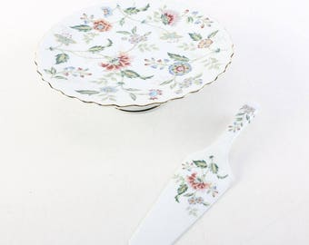 Beautiful Cake Stand With Handled Server