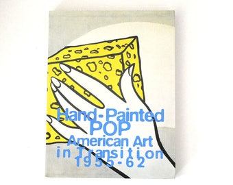 """Vintage Pop Art Book, """"Hand-Painted Pop: American Art in Transition, 1955-62,"""" Art History Essays, Fine Art Reference, Coffee Table Book"""