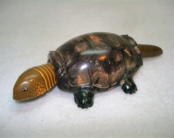 Vintage Tin Turtle Bobbing Head Bobbing Tail Made in Japan