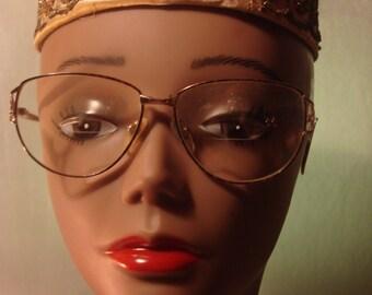 Vintage 1990s Gold Wireframe Glasses