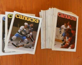 1977/78 Vancouver Canucks programs set of 37/40 + 3 preseason Games nice NHL PROGRAM SET