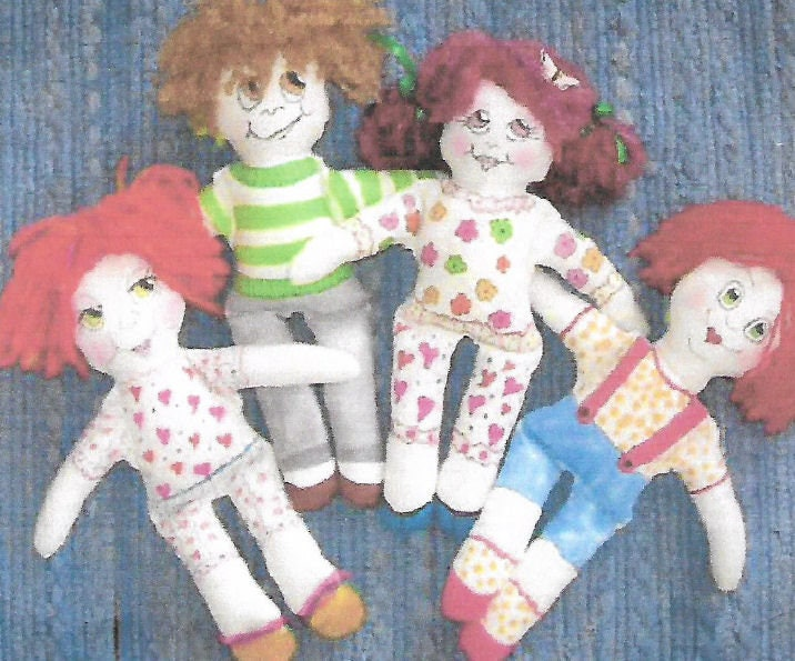 KK801E – Sassy But Simple Dolls - Cloth Doll Making Sewing Pattern ...