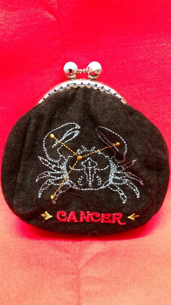 SALE... SALE...Star sign coin purse.  Cancer.  L028