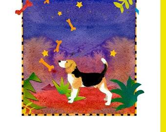 Beagle Bones Art Note Cards