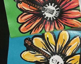 Banjo Flower Set of Two Notecards