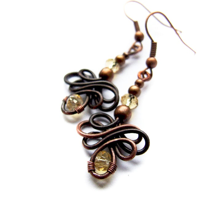 Celtic Earrings Tutorial Wire Wrapping Tutorial Jewelry