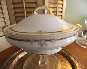 CASSEROLE, VEGETABLE Covered SERVING Dish, Tirschenreuth - Kingston 3900 Pattern Covered Casserole, China Serving Ware