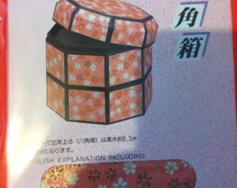 Origami kit/Yuzen Kobako Origami/Octagonal Box Kit/Chiyogami paper/un  project/home decor/gift box/