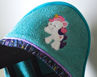 little pony sweetie pie hooded towel child bath towel many colors available baby shower gift birthday gift