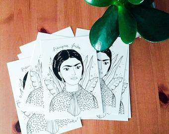Wild Thing I postcard Frida Kahlo