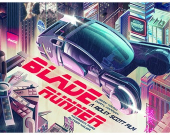 Blade Runner from artist Nicolas Barbera - Print Poster Wall Decor - Movie Poster