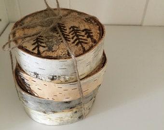 Custom Birch Wood Coasters