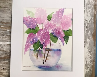 Purple Lilacs - Lilacs Wall Art - Lilacs Decor - Purple Wall Flowers - Painting with Purple Flowers - Botanical Wall Art - Flower Lovers