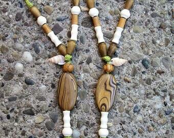 Boho Yoga Barefoot Sandal Green and Wood