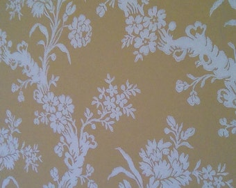 Reduced! Vintage French wallpaper by the yard.