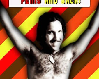Ron Jeremy I love you this much Valentine Card Porn 1970s Anniversary