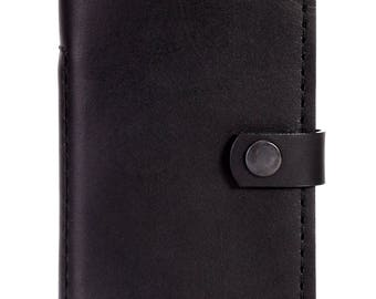 RFID Blocking  Men's Leather Wallet by Autobiography. 'Sentinel' Bifold Money Clip Small Front Pocket Wallet.