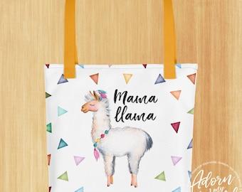 New Mom Gift, Mama Llama, Tote Bag, Llama Tote Bag, Gift For Mom, Gift For Mum, Gift For Mama, Gift For New Mom, Baby Shower Gift, New Mom