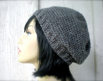 PATTERN:  Kroy  Hat, Slouchy Knit-Look Beanie, P D F easy crochet, InStanT DowNLoaD, Permission to Sell