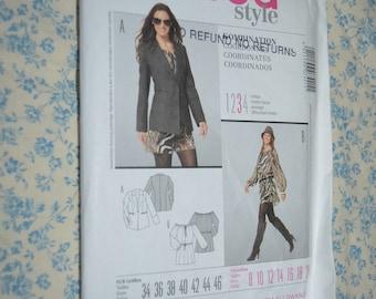 Burda 7421  Misses Dress and Jacket  Sewing Pattern - UNCUT - Size 8 10 12 14 16 18 20