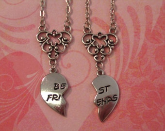 Best Friends Break Apart Necklace Set Jewelry for Friends or Sisters