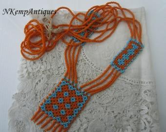 Primitive bead necklace