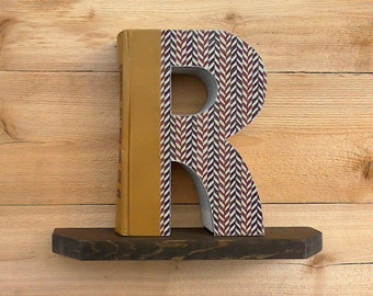 Letter cut from book etsy ready made letter book spiritdancerdesigns Images