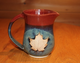 Stoneware Pottery Maple Syrup Pitcher