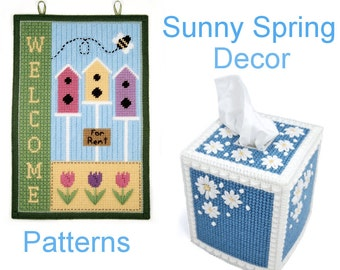 PATTERN: Sunny Spring Decor in Plastic Canvas
