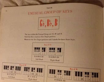 6 sheets Vintage Beginner Piano Music