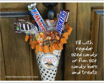 You've been Booed  plus 8 Halloween Tags & Directions for a Sweet Treat Holder