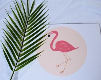 Flamingo circle print PDF COPY ONLY