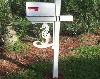 Seahorse Mailbox/Corner Bracket - Large. Long Lasting & Fabulous! Also, anchor, ship, starfish, sand dollar, gecko  and many more!