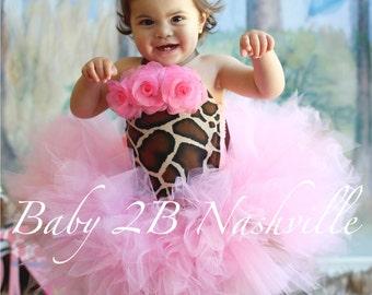 Pink Giraffe Costume Tutu Costume Birthday Costume Baby Costume Toddler Costume Party Costume Safari Birthday