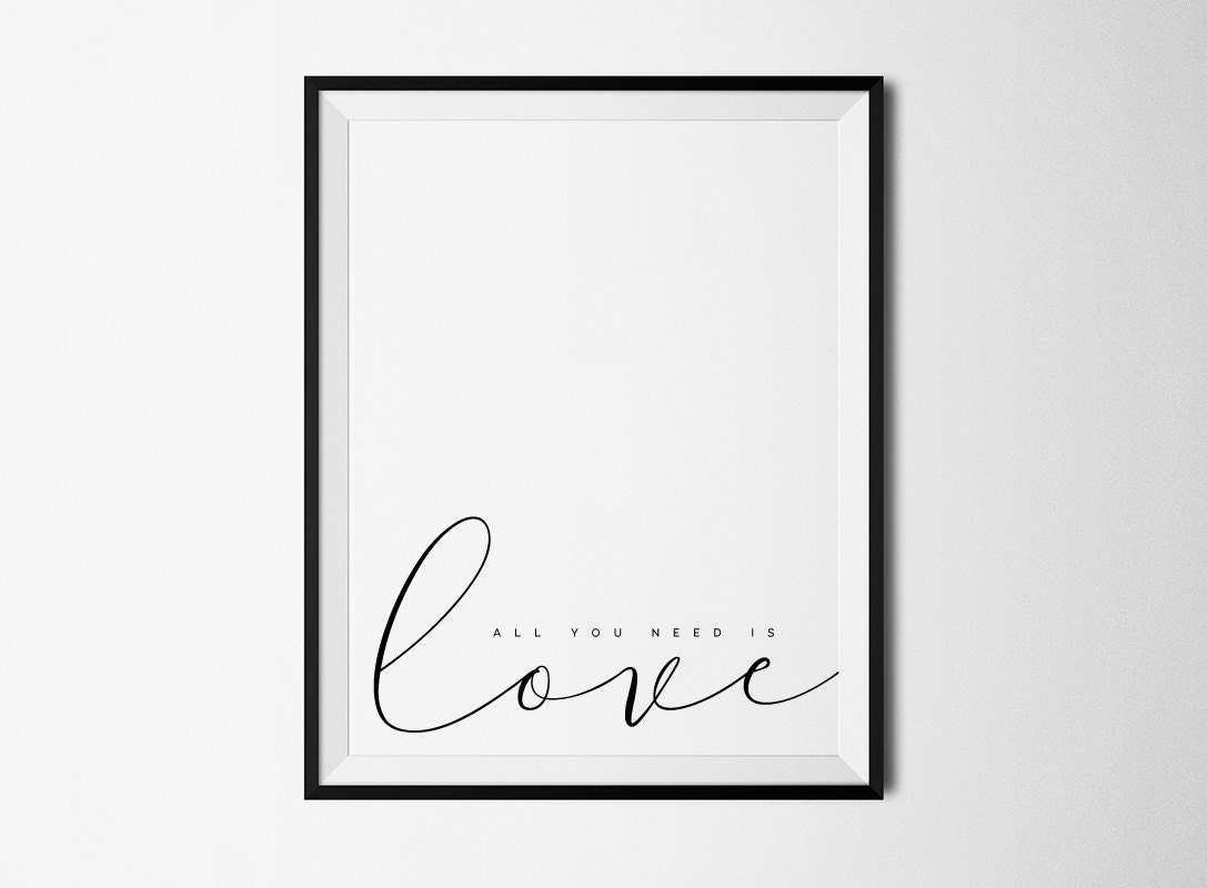 Beatles Quotes Love All You Need Is Love Beatles Lyrics Printable Art Love