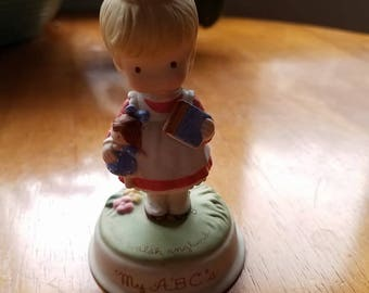 """1986 Avon Joan Walsh Anglund Collection """" My ABC's"""" Porcelain Figurine"""