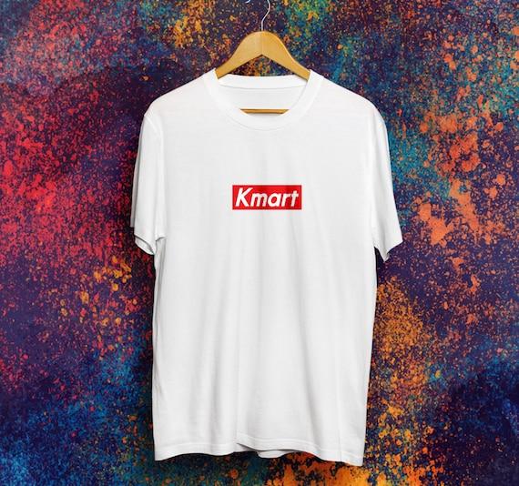 Kmart box logo t shirt brands bootleg shirt supreme kmart reheart Image collections