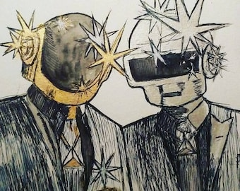 Daft punk watercolor original
