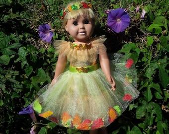 American Girl Doll Petal Dress & Headpiece Set