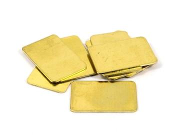 10 Pcs. Raw Brass   20x30 mm Rectangular Blanks  , 20 Gauge   0.8 mm Thick